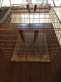 Copper color basket cage, very interesting decorative piece, attractive and functional Coral Springs, 33067
