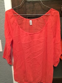 Women's red scoop-neck long-sleeved blouse Victoria, V8P 4A6