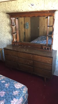 dresser with mirror 59 wide 69 tall Winter Haven, 33880