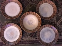"4 Dinner plates and Serving Bowl ""Native"" by Noble Excellence Tulsa, 74128"