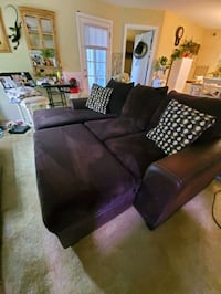 Couch and storage ottoman
