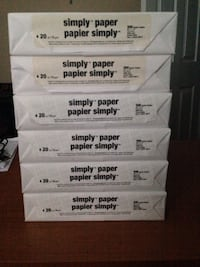 Case of 8 1/2 x 11 copy paper. 10 packs, 5000 sheets Toronto, M8Z 4G1