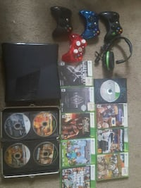black Xbox 360 console with controller and game ca Luray, 22835
