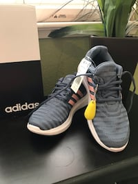 pair of gray Adidas NMD shoes with box Vallejo, 94591