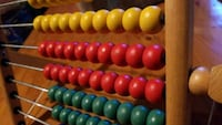Colorful Wooden Abacus for kids  Brampton, L6T 3R5