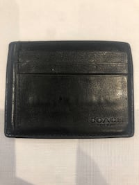 Coach Cardholder Black Genuine Leather New Toronto, M6A