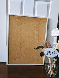 Cork Board with White Frame Toronto, M6S 4Y9