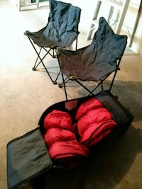 Two folding chairs. Two sleeping bags for adult.  Toronto, M6L