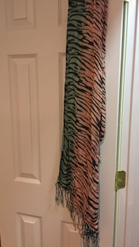 brown,gray and black zebra scarf