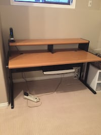 Wooden and metal computer desk 30 1/2 x 62 Spruce Grove, T7X 2J5