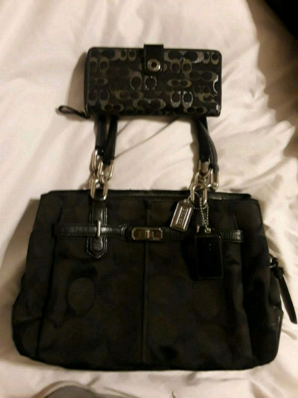 Coach bag with matching wallet