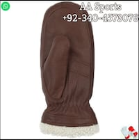 moon Leather  mittens Gloves