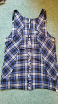 Plaid Tank Top Size S $20 Flat - Non Negotiable White Rock, V4B 3E4