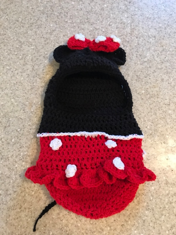 Used Crochet Minnie Mouse Infant Cocoon For Sale In Portland