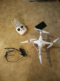 white quadcopter with remote control Flint, 48504