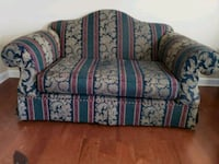 brown and red floral fabric loveseat Clinton, 20735
