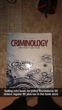 Police foundations criminology book