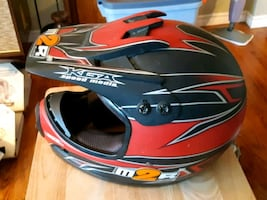 red and black motocross helmet(DOT) XLkids