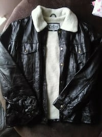 black leather button-up jacket New Orleans, 70131