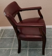 Red Cherry wood Small Office Chair $40  Las Vegas
