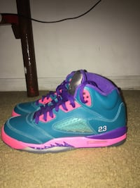 Blue-and-purple Air Jordan 5