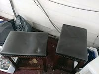 two black leather padded chairs Frostburg, 21532