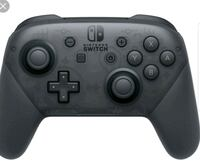 black Nintendo switch pro wireless controller