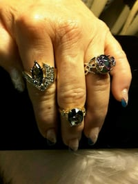 Mystic Ring 22$ & 2)gold Sapphire Rings @30$ ea Ladson, 29456