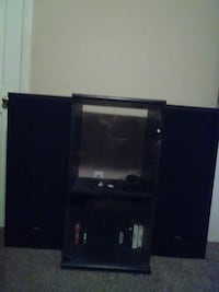 2matching jvc speakers with matching cabinet