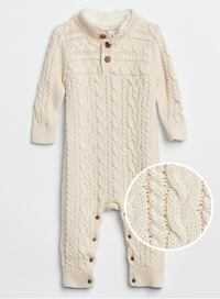 Baby One-Piece Cable-Knit Sweater 3-6 month 60 cm  Vancouver