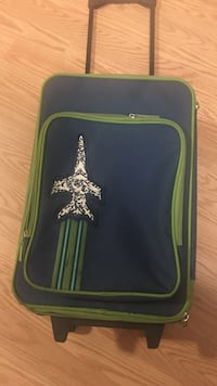Kid's Blue and green trolley luggage