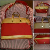 pink and yellow leather tote bag Seattle, 98109