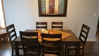 brown wooden table with 6 chairs Calgary, T3K