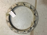 round brown wooden framed mirror Duncan, V9L