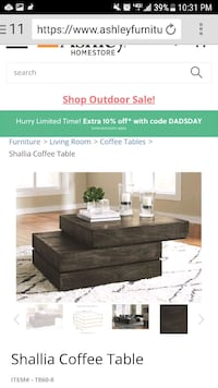 New Ashley coffee table and end table Las Vegas, 89123
