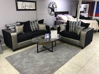 black and white living room set Houston, 77041