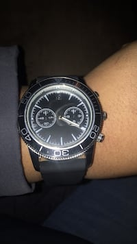 Round black chronograph watch with black strap Cheverly, 20785