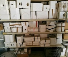 used several ceramic molds
