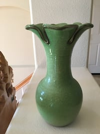 Green Ceramic Flower Vase