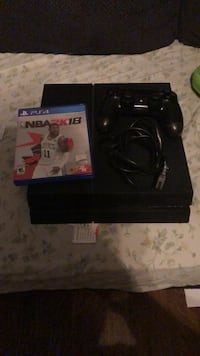 Black sony ps4 console with controller and game case Hyattsville, 20785