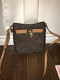 black and brown Michael Kors leather tote bag Barrie