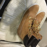pair of brown Timberland work boots Toronto, M3H 2S5