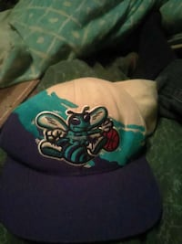 blue and white Charlotte Hornets fitted cap Hazel Green, 35750