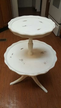 Antique 2 tier table, chalk painted and slightly d Wilsonville, 35186
