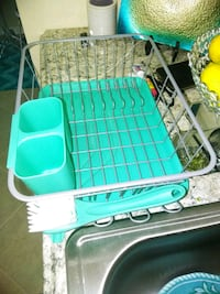 Turquoise dish drainer New Port Richey, 34652