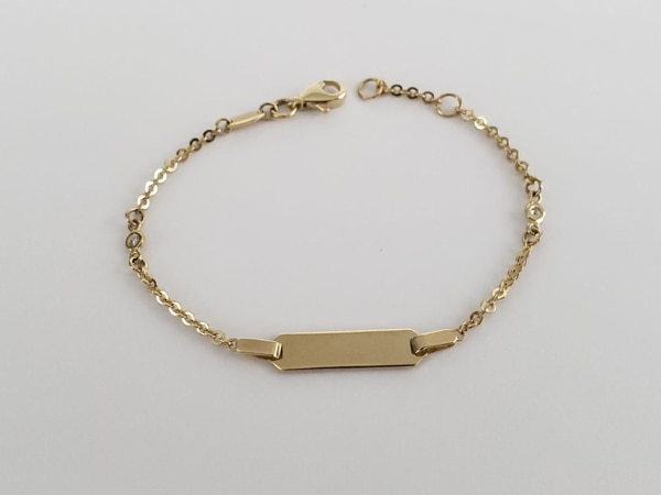 10k Yellow Gold Baby ID Bracelet 1