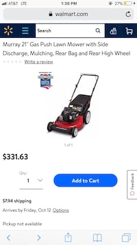 """21"""" Murray lawn mower Great Condition  Dellwood, 63136"""