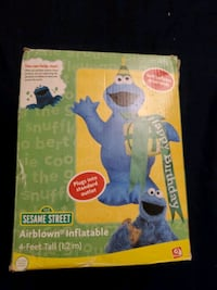 Sesame Street 4ft tall inflatable