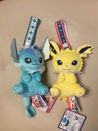 Vaporeon Jolteon I Love Eevee Pokemon plush Toronto, M9P 1R5
