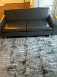 Grey leather couch  Calgary, T3H 0K4